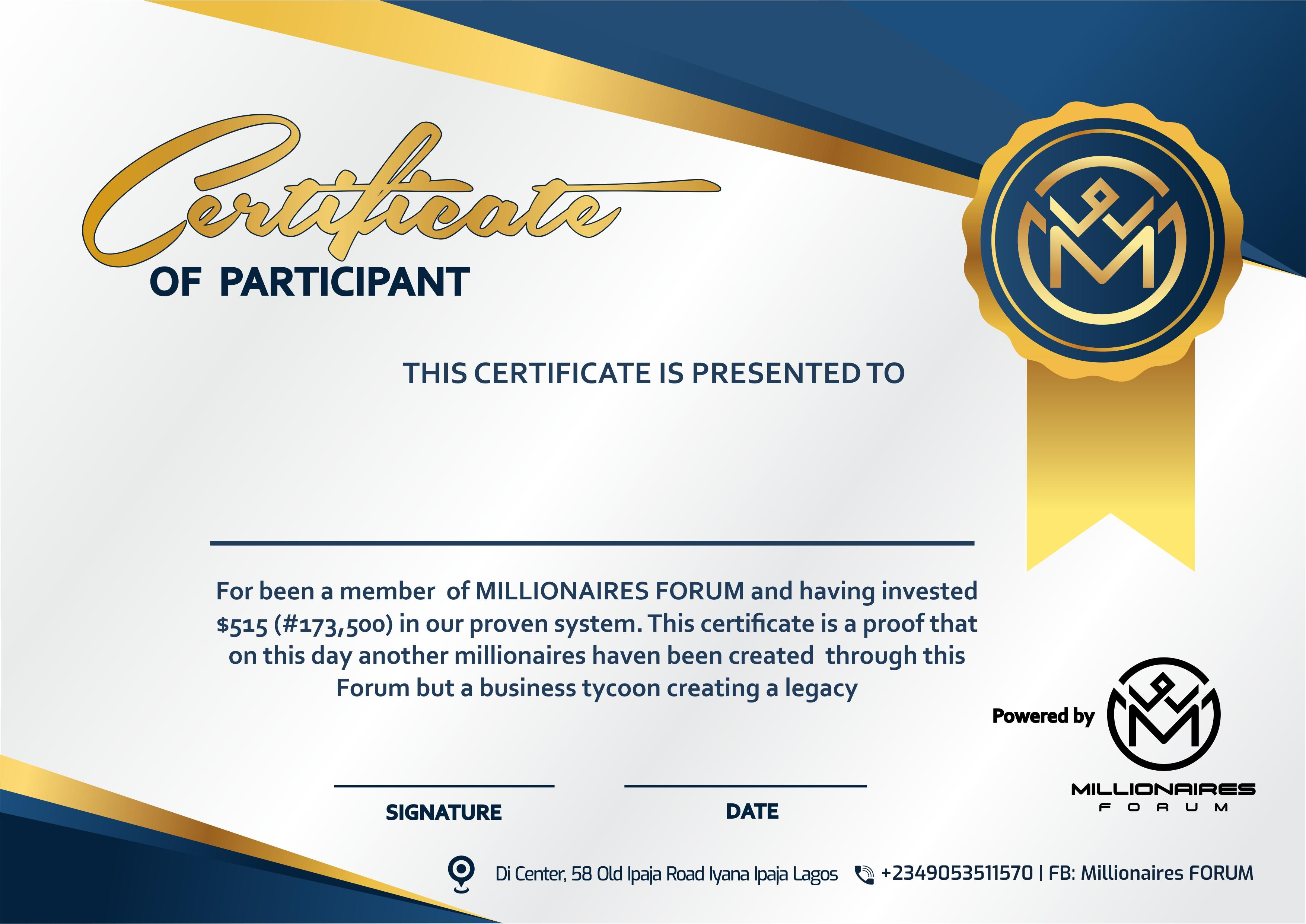 Millionaires FORUM